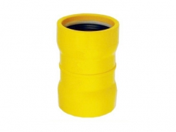 PVC steekmof 63mm geel gas 2xmanchet